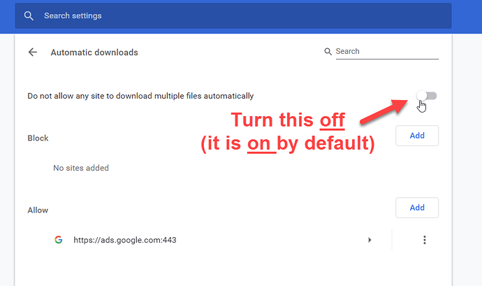 How to allow downloading multiple files in Chrome? - HowTo - User