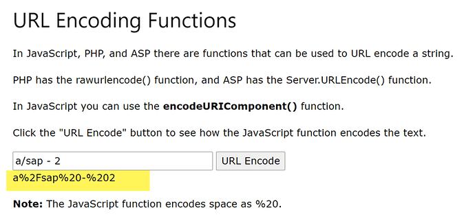 url encode space